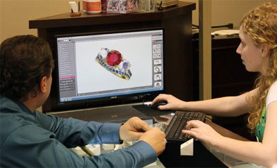 Custom jewelry design process in our Gilbert jewelry store