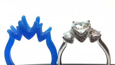 Wax carving used for custom ring design casting by Forever Diamonds
