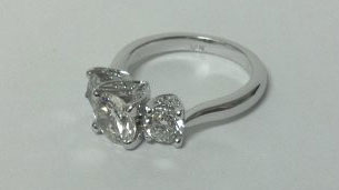 Finished custom ring design by Gilbert jeweler Forever Diamonds
