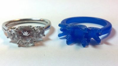 Wax carving used for custom ring design casting in Gilbert